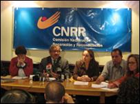 Reunión de la CNRR (Foto cortesía http://www.cnrr.org.co/)