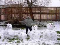 Amy's snowman family