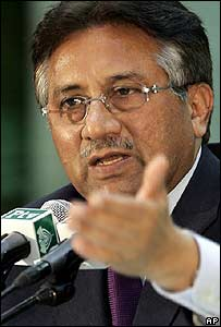 Pakistan's military ruler General Pervez Musharraf