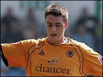 Darren Potter in action for Wolves