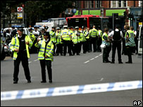 Police at Shepherd's Bush