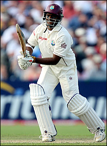 Shivnarine Chanderpaul batting at Old Trafford
