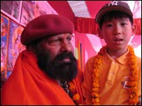 Pilot Baba and Japanese boy