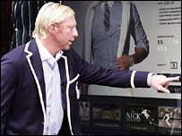 Boris Becker in his threads
