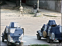 Armoured Personnel Carriers outside the Red Mosque