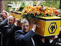 Derek Dougan's funeral