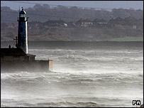 The Hale Lighthouse on the River Mersey