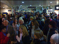 Crowds at New Street: Pic by Robin Hamman