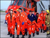 Rescued Napoli crew - Picture: PA