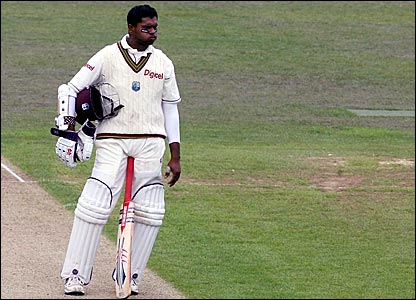 Shivnarine Chanderpaul was named West Indies man of the series