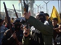Palestinian militants in Ramallah