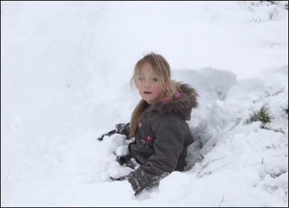 Aimee in snow