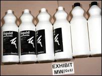 Bottles of hydrogen peroxide