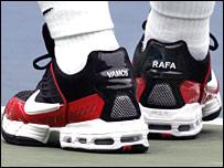 Rafa Nadal's shoes