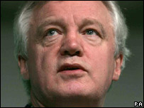 Shadow home secretary David Davis