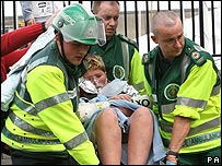 A child rescued from the Irish Sea