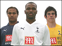Younes Kaboul, Darren Bent and Gareth Bale