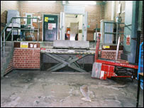 The depot loading bay (Picture from Kent Police)