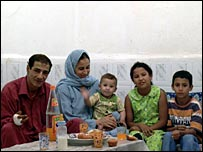 Aze Adine Ould Baja and his family