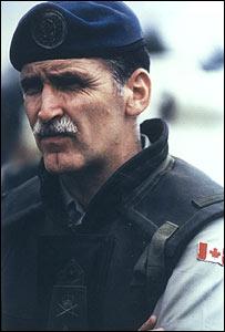 El general Romeo Dallaire cuando comandaba las tropas de la ONU en Ruanda en 1994
