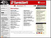 EurekAlert! website