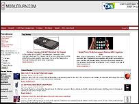 Mobileburn.com website