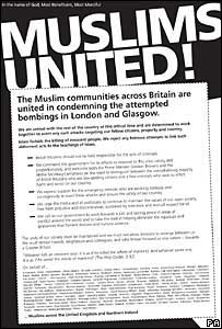 The 'Not in Our Name' campaign