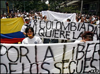 Colombian protesters