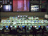 Control room at Xichang Space Centre in China (file photo)