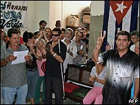 Reunión de activistas de derechos humanos en Cuba (archivo, foto mayo 2007).