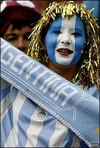 Entusiasta argentina