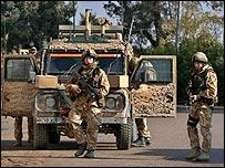 A UK patrol in Basra