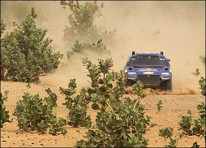 Carlos Sainz on the 12th stage of the Dakar Rally between Ayoun El Atrous in Mauritania and Kayes in Mali