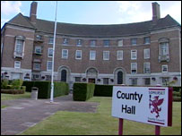 County Hall in Taunton, home of Somerset County Council