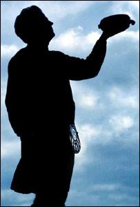 Man holding haggis