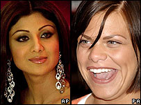 Shilpa Shetty and Jade Goody