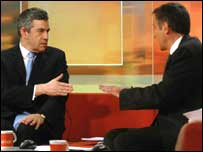 The Prime Minister Gordon Brown