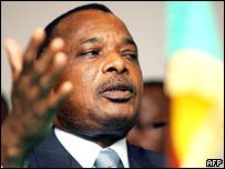 Congo's President Denis Sassou-Nguesso