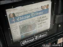 Chicago Tribune vending machine