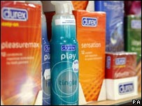 Durex condoms and associated products