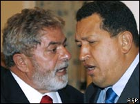 President Lula of Brazil and President Chavez of Venezuela