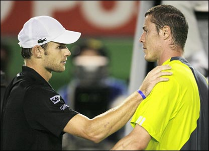 Andy Roddick and Marat Safin