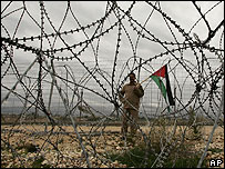 Palestinian protests against the West Bank barrier
