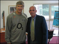 Arsene Wenger (left) and Stephen Constantine