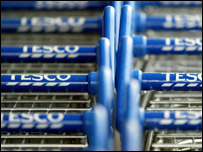 Tesco shopping trolleys