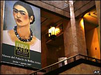 Imagen de Frida Khalo en el Museo de Bellas Artes de M�xico