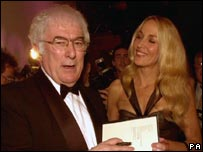 Heaney with Whitbread judge Jerry Hall