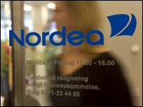 Nordea branch sign