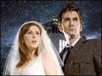 Catherine Tate (Donna) and Doctor Who (David Tennant)