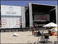 The venue for the Live Earth gig in Rio de Janeiro